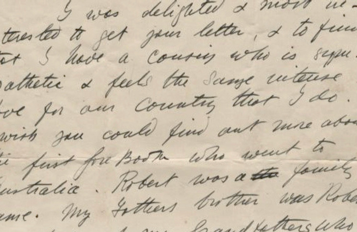 Photo of letter from Countess Markievicz